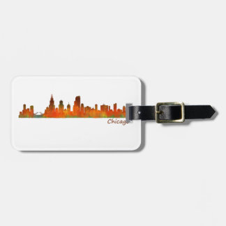 Chicago U.S. Skyline cityscape Luggage Tag