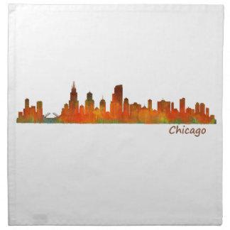 Chicago U.S. Skyline cityscape Napkin