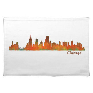 Chicago U.S. Skyline cityscape Placemat