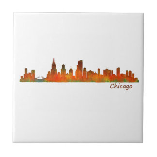 Chicago U.S. Skyline cityscape Tile
