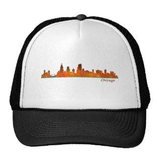 Chicago U.S. Skyline cityscape Trucker Hat