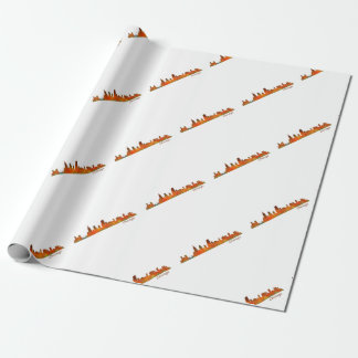 Chicago U.S. Skyline cityscape Wrapping Paper