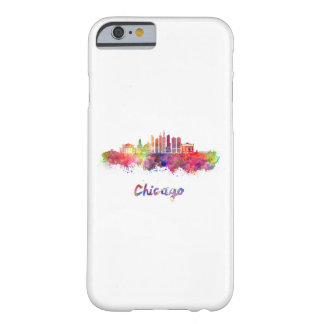 Chicago V2 skyline in watercolor Barely There iPhone 6 Case