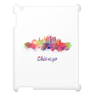 Chicago V2 skyline in watercolor Cover For The iPad