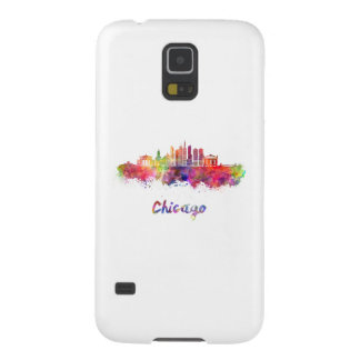 Chicago V2 skyline in watercolor Galaxy S5 Case
