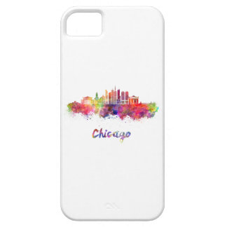 Chicago V2 skyline in watercolor iPhone 5 Covers
