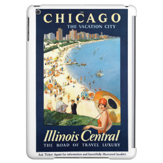 Chicago Vacation City Vintage Poster Restored Case For iPad Air