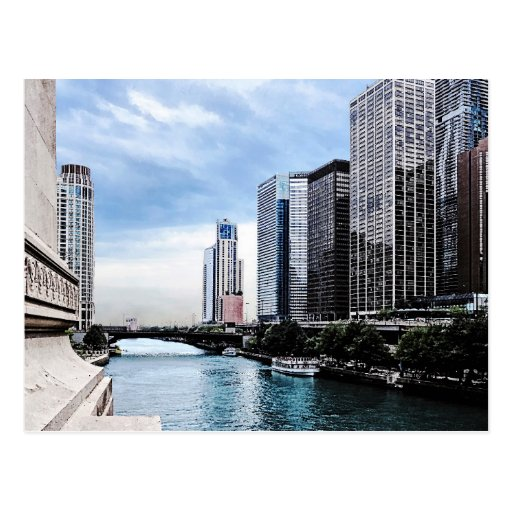 Chicago - View From Michigan Avenue Bridge Postcards