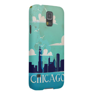 Chicago vintage travel poster galaxy s5 case