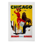 Chicago Vintage Travel Posters