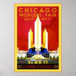 Chicago ~ Vintage Travel Print