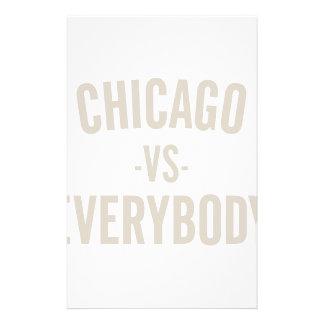 Chicago Vs Everybody Stationery