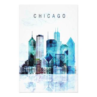 Chicago watercolor photo print
