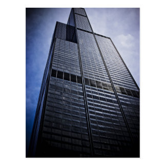Chicago Willis Tower Skyscraper Postcard