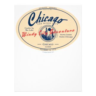 Chicago Windy City Personalized Letterhead