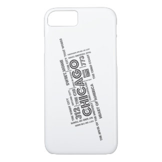 Chicago Word Cloud iPhone 8/7 Case