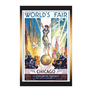 Chicago World's Fair 1933 - Vintage Retro Art Deco Canvas Print