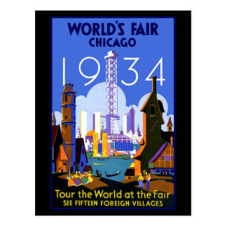 Chicago Worlds Fair 1934 Postcard