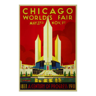 Chicago world's fair a century of progress expo poster
