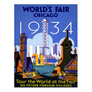 Chicago World's Fair American Vintage Travel Postcard