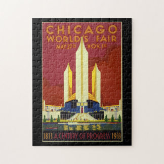 Chicago Worlds Fair Vintage Poster 1933 Jigsaw Puzzle