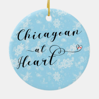 Chicagoan At Heart Holiday Decoration, Chicago Ceramic Ornament