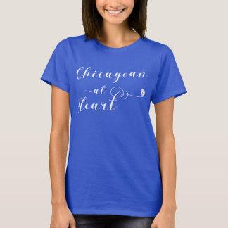 Chicagoan At Heart Tee Shirt, Chicago