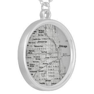chicagoland map necklace