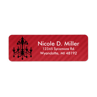 Chich Chandelier Return Address Labels