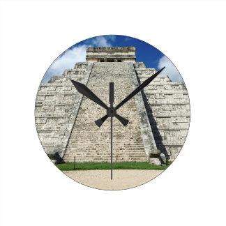 Chichen Itza by Kimberly Turnbull Photography Round Clock