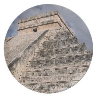 Chichen Itza Mayan Ruin in Mexico Plate