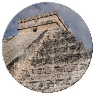Chichen Itza Mayan Ruin in Mexico Porcelain Plates
