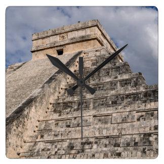 Chichen Itza Mayan Ruin in Mexico Square Wall Clock