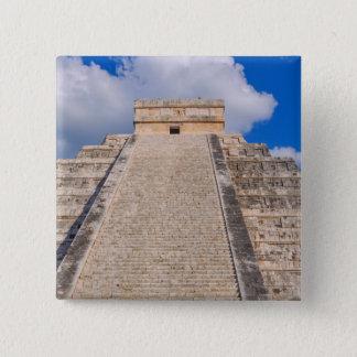 Chichen Itza Mayan Temple in Mexico 2 Inch Square Button