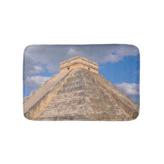 Chichen Itza Mayan Temple in Mexico Bath Mat