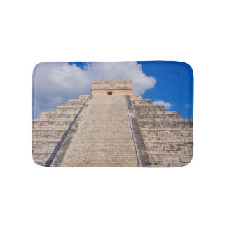 Chichen Itza Mayan Temple in Mexico Bath Mat