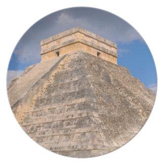 Chichen Itza Mayan Temple in Mexico Dinner Plate