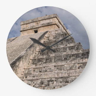 Chichen Itza Mayan Temple in Mexico Large Clock