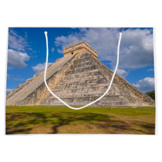 Chichen Itza Mayan Temple in Mexico Large Gift Bag
