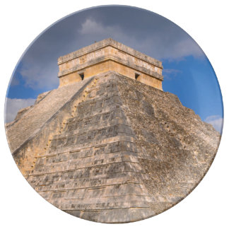 Chichen Itza Mayan Temple in Mexico Porcelain Plate