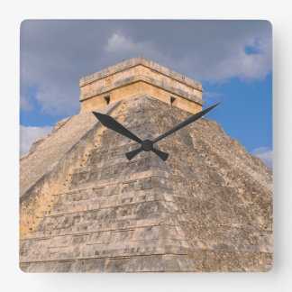 Chichen Itza Mayan Temple in Mexico Square Wall Clock