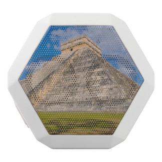 Chichen Itza Mayan Temple in Mexico White Bluetooth Speaker