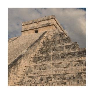 Chichen Itza Mayan Temple in Mexico Wood Wall Decor