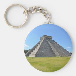 Chichen Itza Mexico Kukulkan Pyramid 7 Wonders Basic Round Button Keychain