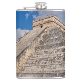 Chichen Itza Ruins in Mexico Hip Flask