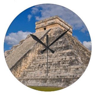Chichen Itza Ruins in Mexico Large Clock