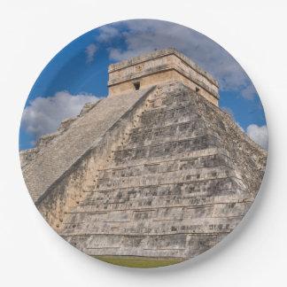 Chichen Itza Ruins in Mexico Paper Plate