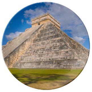 Chichen Itza Ruins in Mexico Plate