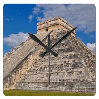 Chichen Itza Ruins in Mexico Square Wall Clock