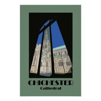 Chichester Cathedral 1920s-style retro poster